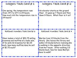 free 7th grade math common core word problem task cards 16 cards