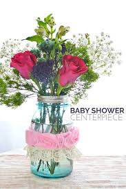 Vase Centerpieces For Baby Shower Quick Baby Shower Centerpiece