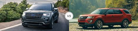 Ford Explorer Body Styles - 2018 ford explorer vs 2017 ford explorer compare specs