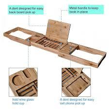 adjustable bathtub caddy welland industries llc bamboo bathtub caddy reviews wayfair