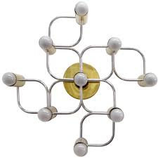 Wall Mount Chandelier Set Of Four Sculptural Ceiling Or Wall Lights Flush Mounts