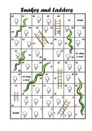 english teaching worksheets snakes and ladders