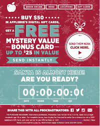 applebee gift card applebee s current marketing caign to increase gift card sales