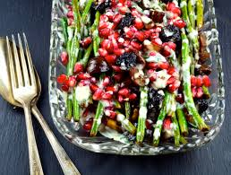green beans with chestnuts pomegranates tahini