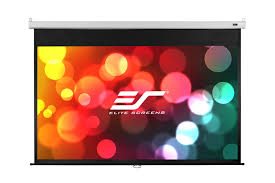 manual pull down projector screen slow retract projection screen
