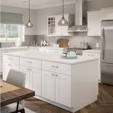 white shaker kitchen base cabinets princeton base cabinets in warm white kitchen the home depot