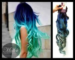 blue hair extensions blue turquoise hair extensions awesome hair