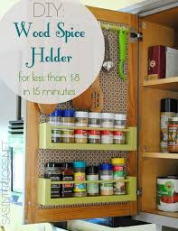 Over The Cabinet Spice Rack Decorating Lovable Wooden Spice Rack Furnishing Your Winsome