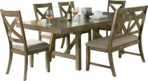 standard furniture dining room sets standard furniture omaha grey table 4 side chairs 1 bench