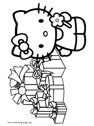 christmas kitty christmas gifts coloring