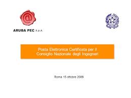 presidenza consiglio dei ministri pec posta elettronica certificata per il ppt scaricare