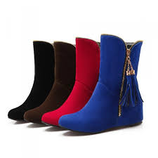 womens flat boots australia womens winter boots stretch fashion scrub tassel