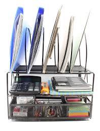 Amazon Organizer Amazon Com Easypag Mesh Desk File Organizer Tray With 5 Sorter