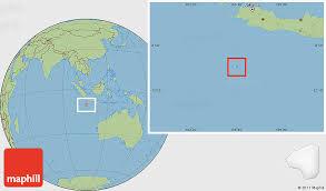savanna style location map of christmas island