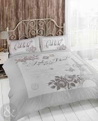 bedroom grey shabby chic bedding porcelain tile alarm clocks