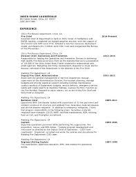 Firefighter Job Description Resume by 2014 Resume