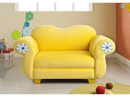 canap pour enfants pour enfant tissu jaune