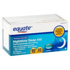 equate maximum strength sleep aid liquidcaps 32 ct walmart com