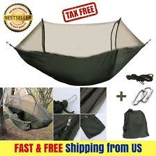 military travel camping tent parachute hanging hammock w pop up