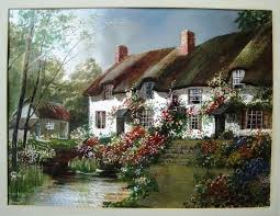 346 best cottage images on cottage painting