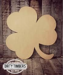 unfinished clover 4 leaf st patrick u0027s day door hanger diy