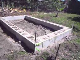 how to build make a raised garden bed with concrete cinder