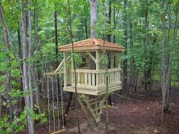 Zip Line For Backyard by Our First Treehouse Complete With Cargo Net Escape Hatch And 125