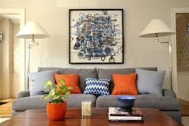 orange and gray throw pillows orange grey throw pillow orange and