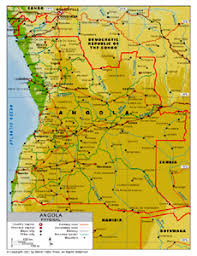 angola physical map physical map of angola by bestcountryreports