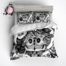 v i o l e t t a o p h e l i a products i pencil sketch rose kissing couple sugar skull bedding