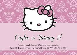 Hello Kitty Birthday Invitation Card Hello Kitty Invitation Front Innovative Designs Blog