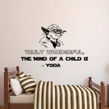 quote decals for glass star wars wall decal quote truly wonderful the mind of a child