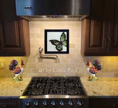 butterfly art paintings glass tiles of butterflies