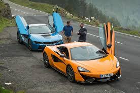 mclaren vs honda nsx vs bmw i8 vs mclaren 570s supercars compared autocar