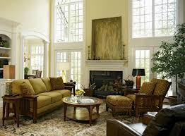 traditional style living room chairs brown benches stained iron