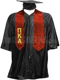 graduation stole pi kappa alpha satin graduation stole with letters