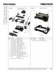 canon printer manuals canon pixma ip8500 ip 8500 service manual parts catalog