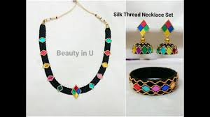 necklace making set images Silk thread necklace set dori necklace making at home tutorial jpg