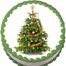 Christmas Cake Decorations Wellington by Christmas Tree Edible Cake Cupcake U0026 Cookie Topper U2013 My Party Helpers