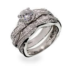 sterling diamond rings images Wedding rings silver wedding rings silver wedding ring sets for jpg