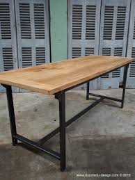 table pliante bureau bureau metal industriel gallery of bureau industriel en bois et