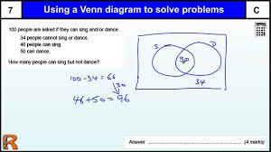 venn diagram to solve problems gcse maths revision exam paper