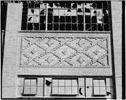 8 exterior detail of ornamental brickwork of a lower spandrel on