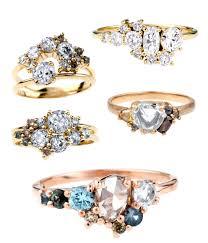custom cluster v shaped ring bario neal home bario neal soothing colors cluster ring and bespoke