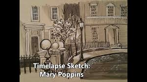time lapse sketch of the banks u0027 house from mary poppins youtube