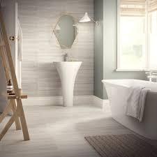 grey matt porcelain satin bathroom en suite 60x30 tile wall floor
