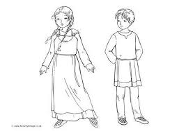 historical children colouring pages