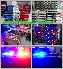 Red Led Light Bars by Red Blue Police Mini Light Bar Strong Magnet Car Roof Led