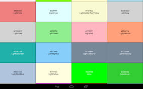 android color color code reference book android apps on play