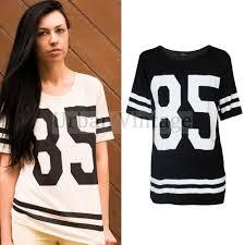 baseball jersey shirt dress baggy sports t shirt top fashion